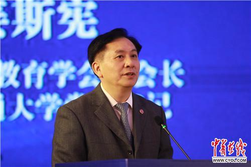 上海交通大学党委书记姜斯宪发言 徐明磊/摄