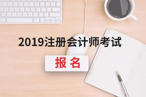 河北2019注册会计师报名费是多少