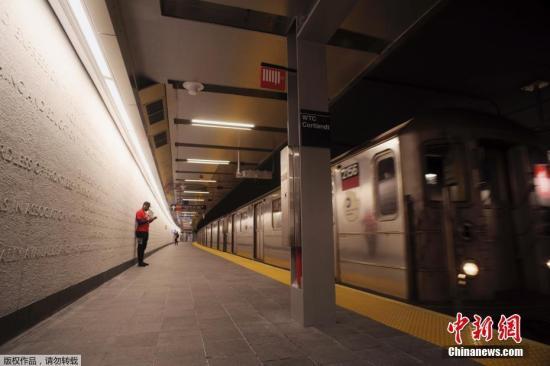 资料图:美国纽约地铁。