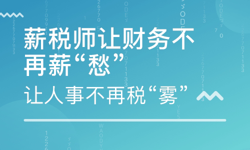 四川乐山薪税师培训