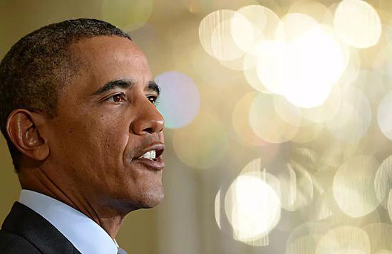 ▲资料图片:2014年1月9日,美国时任总统奥巴马在华盛顿白宫发表讲话。(新华社)