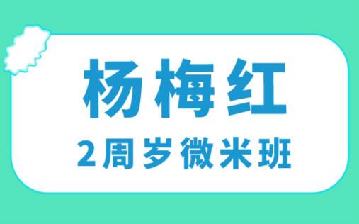 上海中庚漫游城杨梅红2周岁微米美术培训
