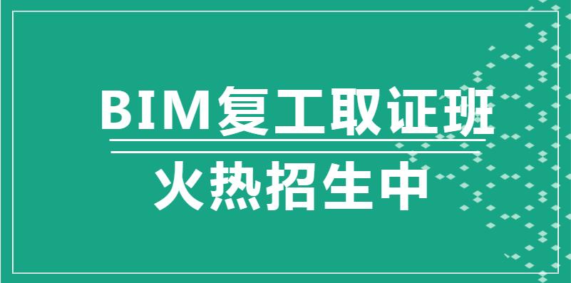 潍坊2020年BIM复工取证班
