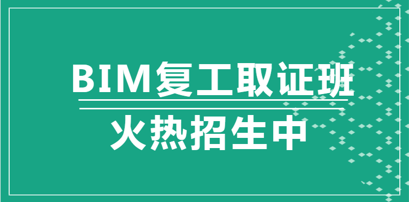 西安2020年BIM复工取证班
