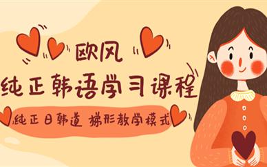 上海徐汇纯正韩语学习课程